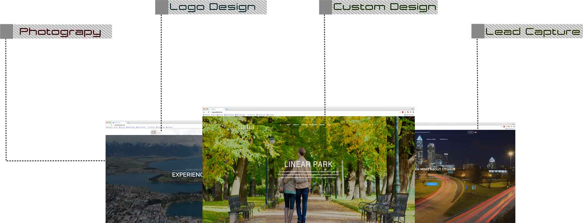 examples of arts cube web design